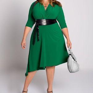 Igigi Catherine asymmetrical emerald dress